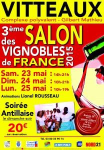 Affiche VITTEAUX SALON VINS 2015