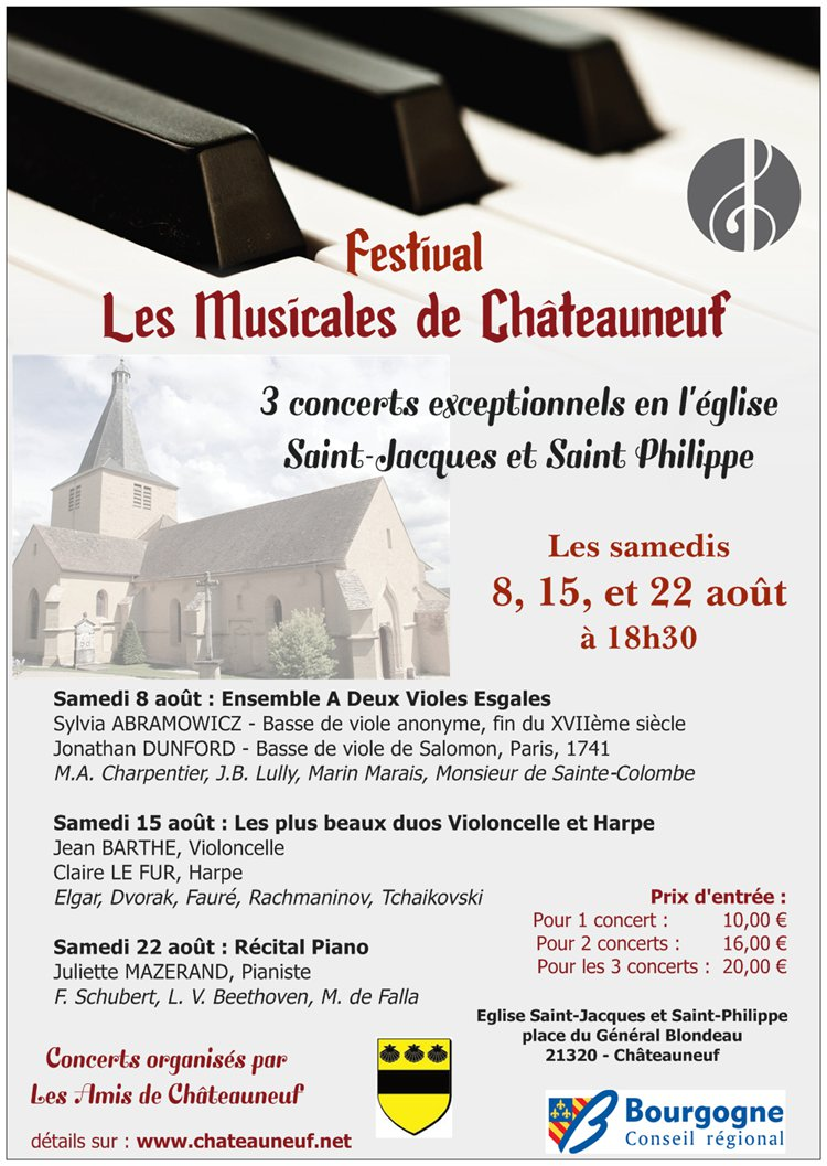 festival les musicales de ch teauneuf agenda collaboratif du territoire de l 39 auxois. Black Bedroom Furniture Sets. Home Design Ideas