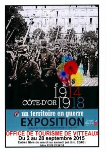 Affiche expo Côte d'Or 1914 1918 OT Vitteaux